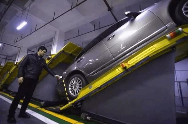 停放在出入口的交换平台上即可离开,这将大大提高停车的效率和安全性.